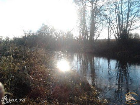 осеннее солнце на воде