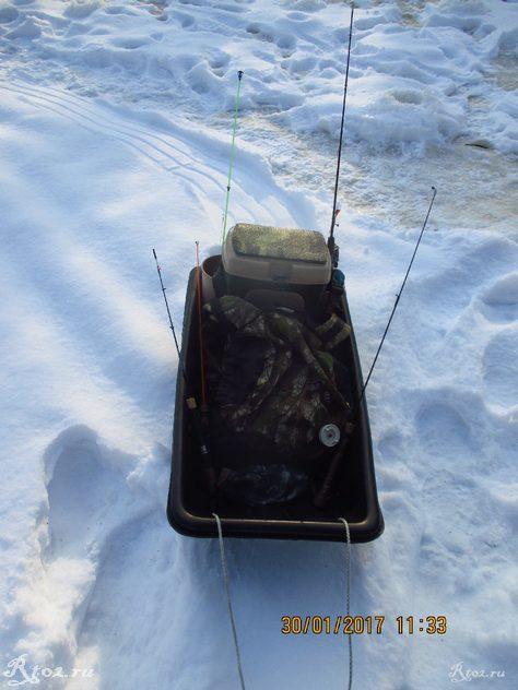 мои рыболовные зимние санки 2