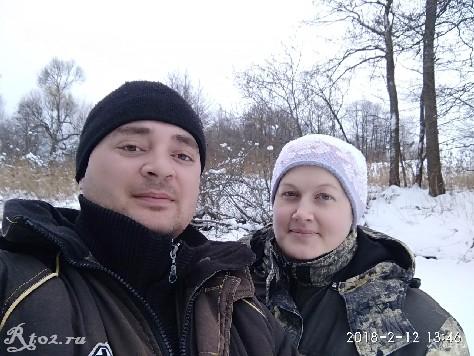 мы с женой на рыбалке