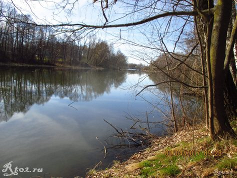 Весеннее озеро в солнечный день