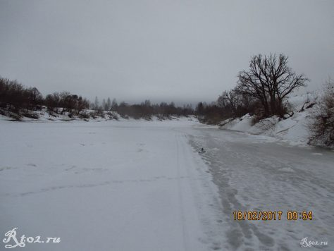 Замершая река Днепр 2