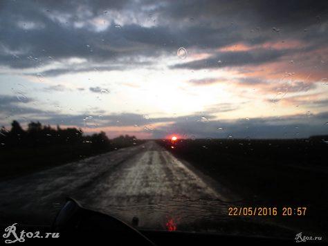 Закат на дороге Лучеса-Шмаково