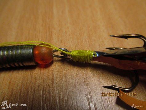 изготовление мушки на тройник блесны 29
