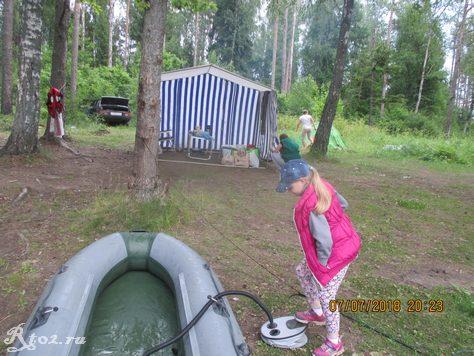 Дочка качает лодку 34536