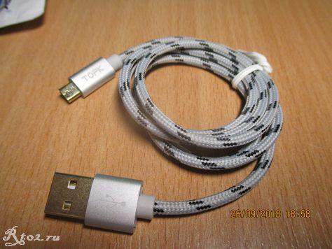 кабель usb Topk 1 M в оплетке 3