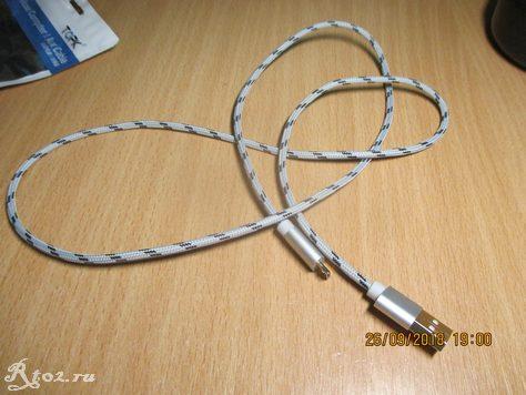 кабель usb Topk 1 M в оплетке 5