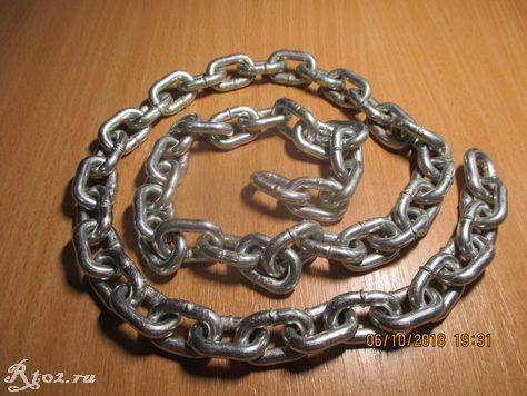 оцинкованная цепь для скользящего якоря