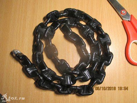 обмотанный изолентой скользящий якорь из цепи
