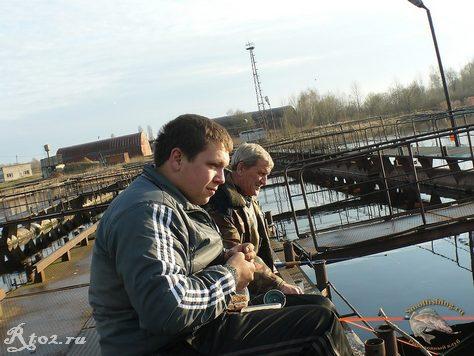 Десногорск. рыбалка на рыбхозе