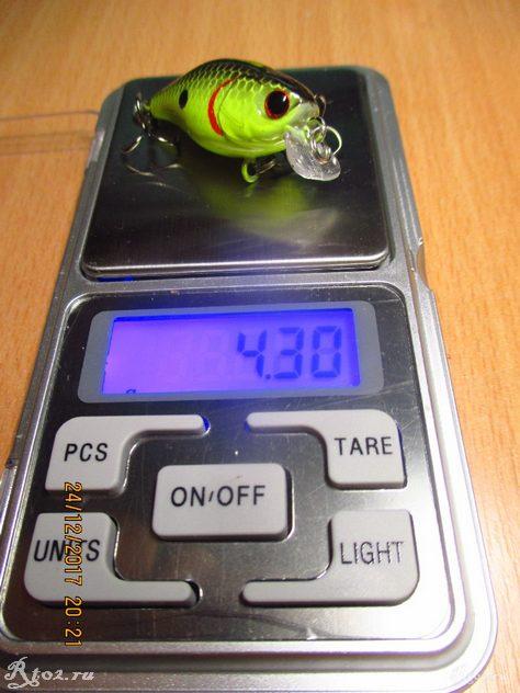 вес зеленого воблера