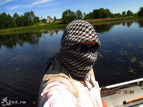 Защита от солнца на рыбалке