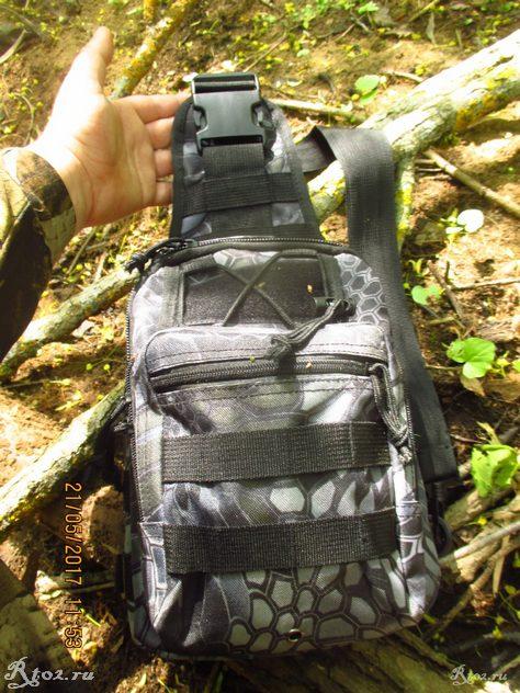 На рюкзаке широкий ремень