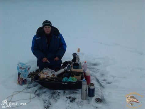 обед на льду с соседом