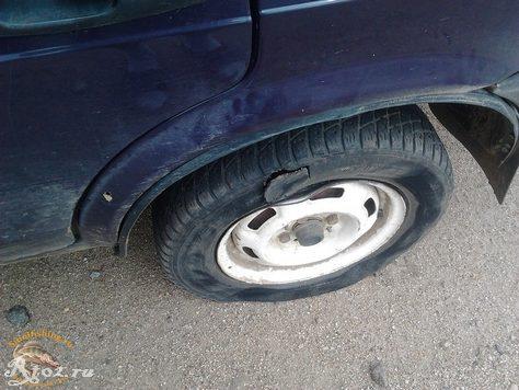 разбитое колесо