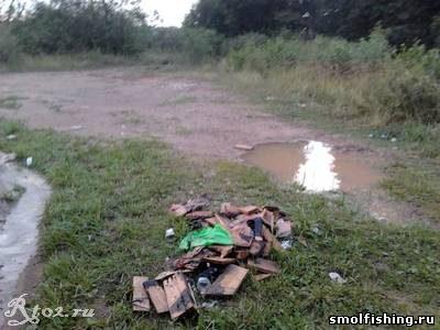 мусор на берегу