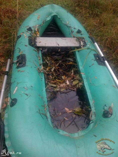 Мусор в лодке