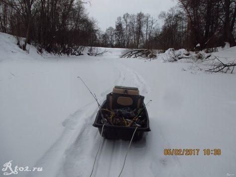 Мои рыболовные зимние санки