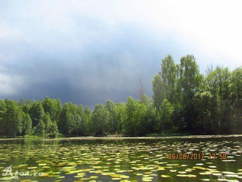 Туча над озером