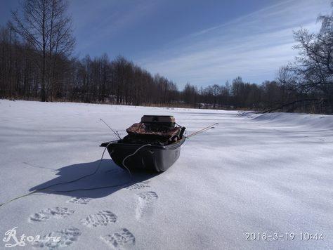 рыболовные санки на льду