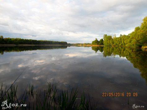 Озеро в деревне Климщина 1