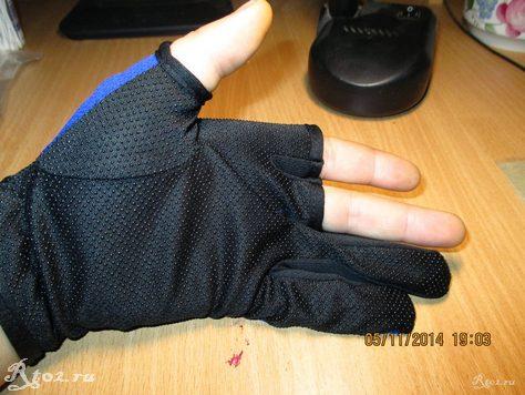 Синие перчатки для рыбалки с алиэкспресс 2