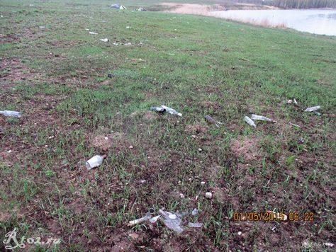 мусор на берегу реки Десна