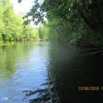Ловля спиннингом щуки на небольшой реке сплавом в июне 2018