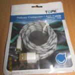 Кабель TOPK USB — micro USB в оплетке с Aliexpress