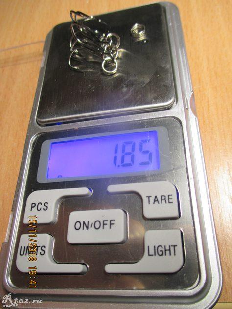 вес крючков и колец копии орбита 110
