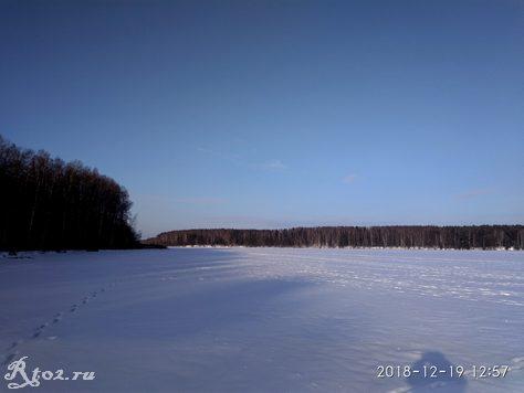 Десногорское водохранилище зимой