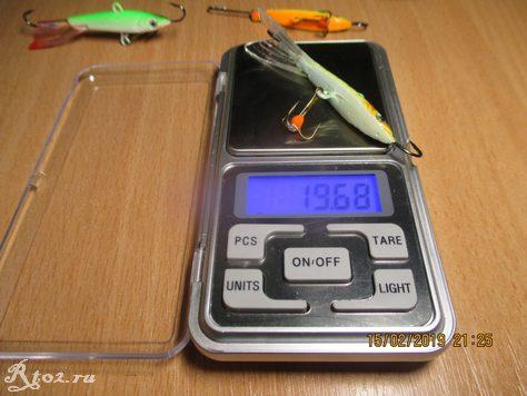 вес зеленого балансира FishKing 7 см