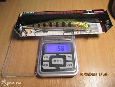 вес китайского ито шайнера составил 15,81 гр.