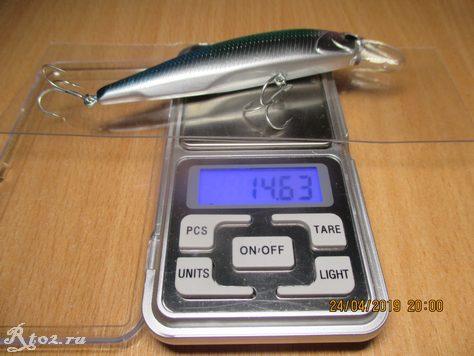 вес воблера 14,63 гр