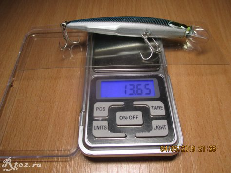 вес приманки 13,65 грамм