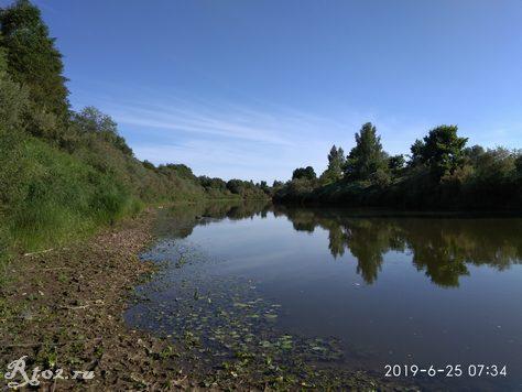 утро на реке Днепр
