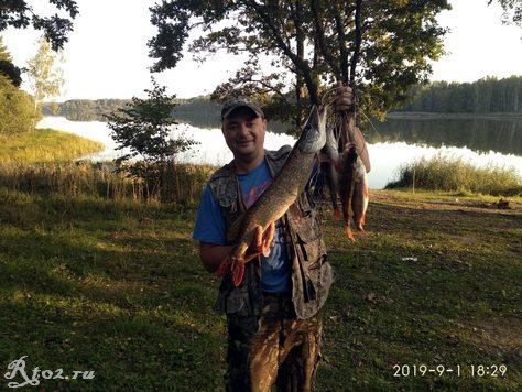 улов рыбы на Десногорском водохранилище 1 сентября 2019 года