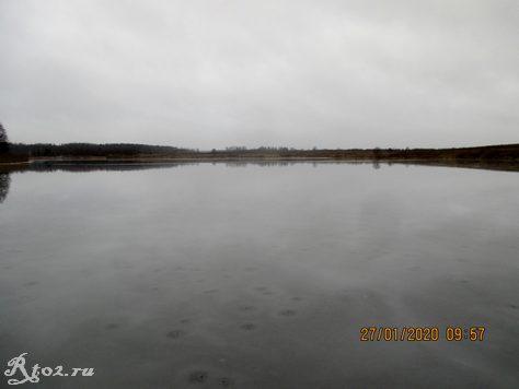 Десногорское водохранилище в конце января 2020