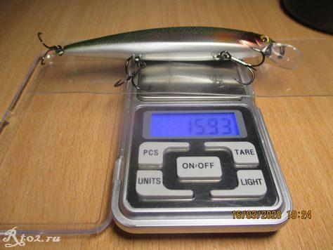 Вес копии Jackall Rerange 110 SP от Bearking