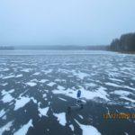 Выезд 13 декабря 2020 г на Десногорское водохранилище на третий съезд (подмостки) за хищником
