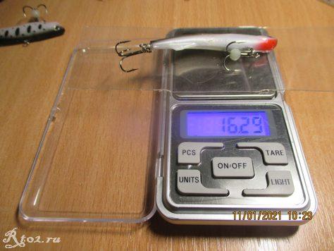 Вес копии ширитена 16,29 грамма