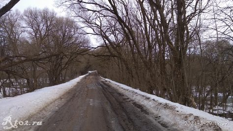 Дорога уже оттаяла.