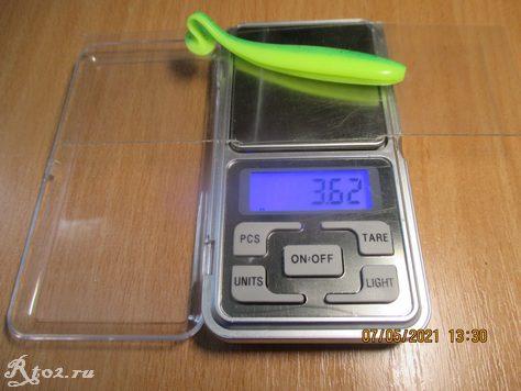Вес копии Keitech Easy Shiner от Tsurinoya