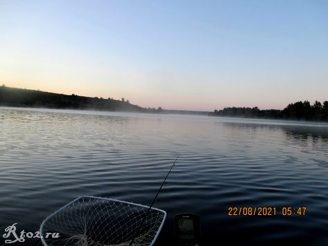 Утро на озере в августе 2021