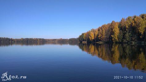 Десногорское водохранилище 10 октября 2021 года