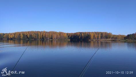 Десногорское водохранилище в октябре 2021
